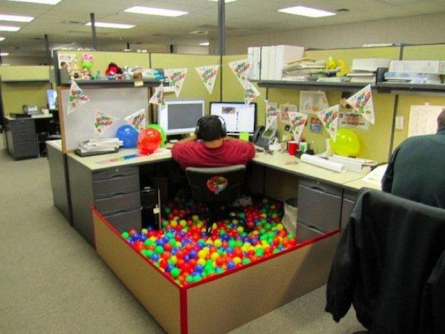fiesta en la oficina