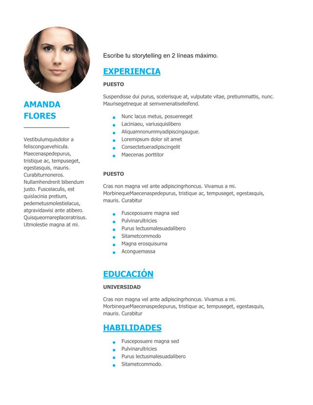 plantilla cv gratis infojobs
