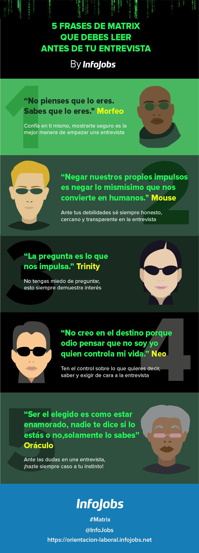 frases de matrix para una entrevista de trabajo