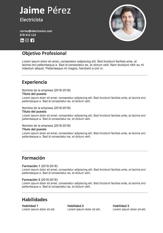 15 Plantillas De Curriculum Para Descargar Gratis Infojobs
