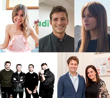 Jóvenes emprendedores con menos de 30 años