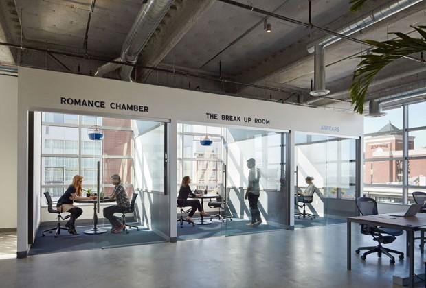 Espacios abiertos en una de las mejores oficinas para trabajar del mundo