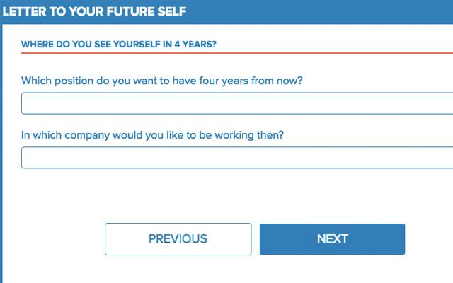 carta al futuro infojobs